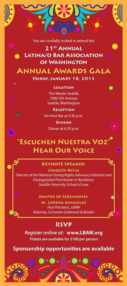Latina/o Bar Association of Washington - LBAW's 21st Annual Awards Gala