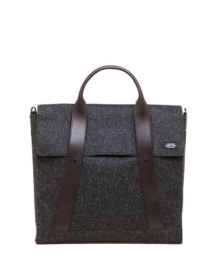 Waxed Wool Weekend Messenger Bag: Jack Spade.