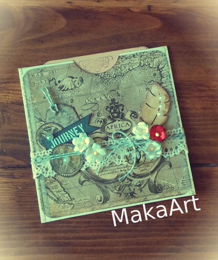 Handmade Card - *Romantické cestovanie v čase...*