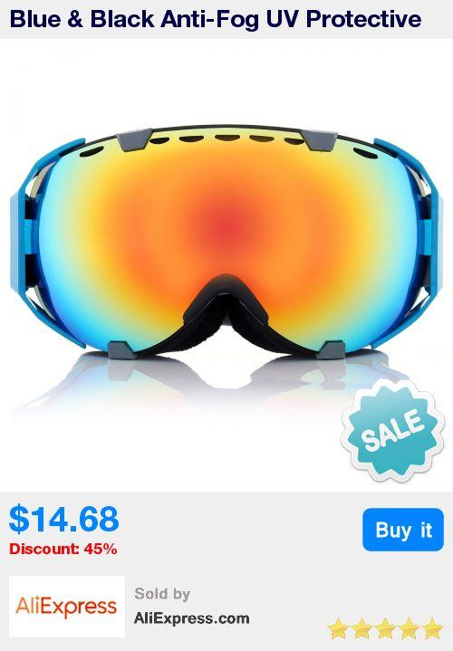 Blue & Black Anti-Fog UV Protective UV Dual Lens Snowboard Ski Goggles Sunglass Eyewear * Pub Date: 00:52 Apr 4 2017