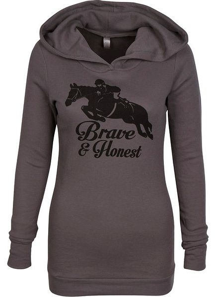 LOVE this chic hoodie from Riding Ninja Apparel! Pair with breeches or skinny jeans and tall boots for a fabulously casual fall outfit.