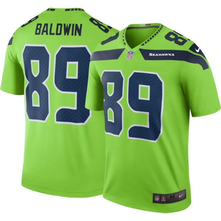 Nike Men's Color Rush 2016 Seattle Doug Baldwin #89 Legend Game Jersey, Size: Small, Team