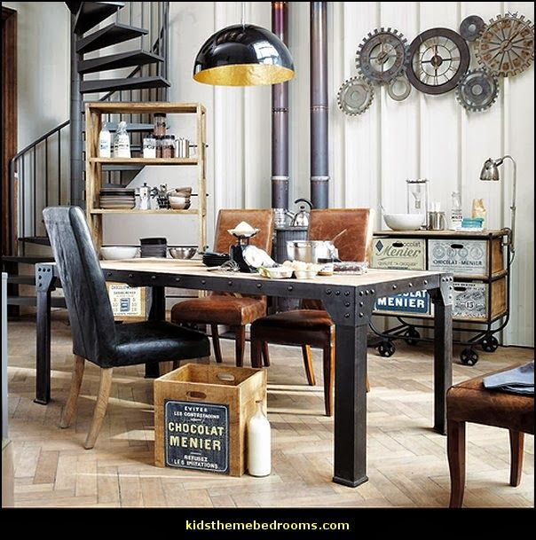 17 migliori idee su mobili in stile industriale su pinterest mobili tubolari e scaffali. Black Bedroom Furniture Sets. Home Design Ideas