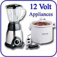 12-Volt Appliances, TV's, etc for RVs or car's.