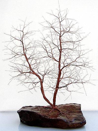 Copper Wire Tree Sculpture - 1278 Sculpture