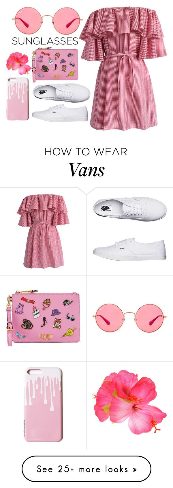 """""""Reddish"""" by pokeygirlllll on Polyvore featuring Chicwish, Ray-Ban, Vans and Moschino"""