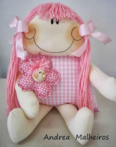 boneca de pano rosa (tutorial)
