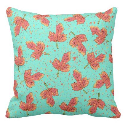 Exceptional Red Leaves Fall Pattern Outdoor Pillow
