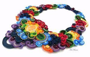 wonderful #colored #soutache #necklace