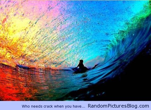 Beautiful Rainbow inside a Wave   Random Pictures Blog   beautiful   Surfing,  Waves, Sunset a0e234d078