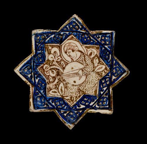 Tile, Ilkhanid dynasty, Kashan, 13thC