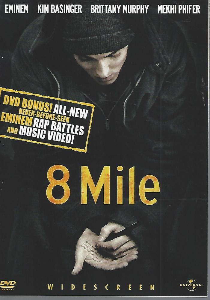 8 Mile (DVD, 2003, Widescreen; Uncensored Bonus Materials) Eminem