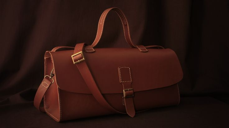 Leather bag by Sasha, P.S. leathercraft, hand stitched brown leather bag/ Contact me sun-setview@mail.ru