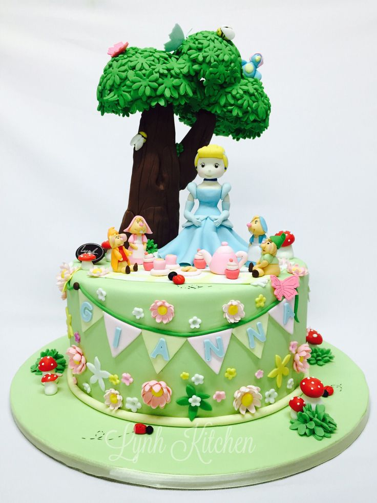 Cinderella tea party cake