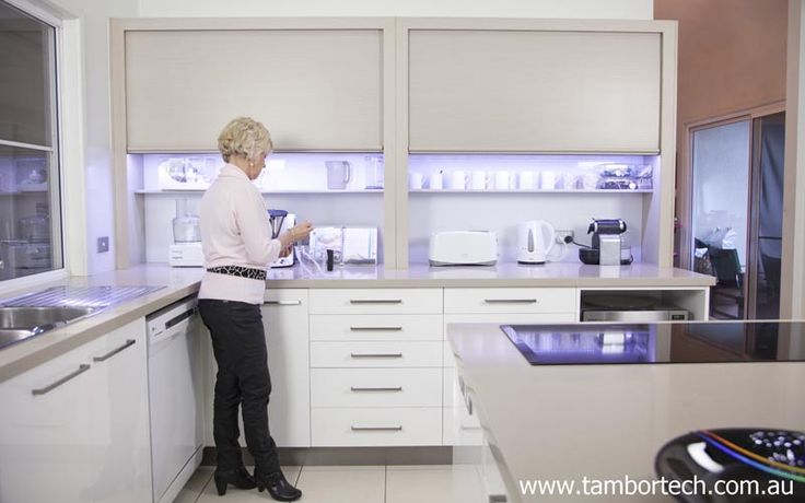 Kitchen Design Ideas - great storage idea & kitchen organisation idea. All your items at your finger tips behind a Tambortech Door.