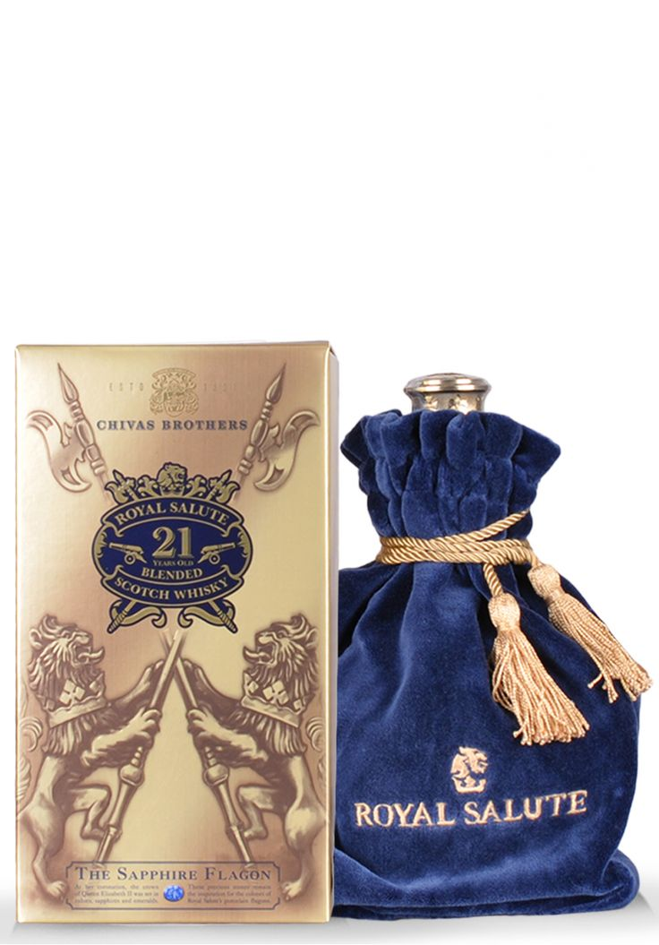 Whisky Chivas Royal Salute, 21 ani, Blended Scotch, The Sapphire Flagon (0.7L) - SmartDrinks.ro