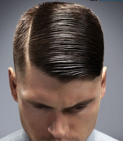 My haircut is based on the side parting, with the parting accentuated by shaving a clean crisp line.