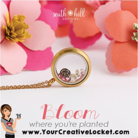 #YourCreativeLocket, #SouthHillDesigns, #easter, #bloom, #gift, #mom, #gorgeous #locket, #bling