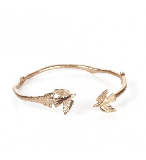 fly away with me bird bracelet in gold