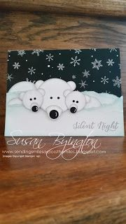 Stampin' Up! Polar Bear Punch Art using Winter Wonderland Specialty Designer Series Paper