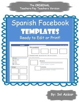 facebook templates for projects - spanish facebook project print and go template end of