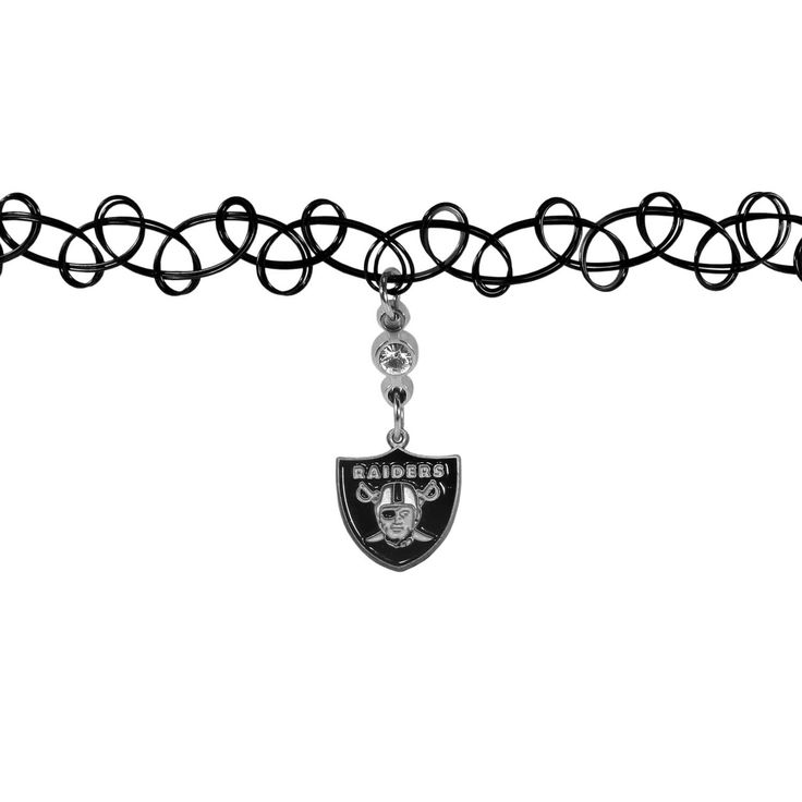 """Checkout our #LicensedGear products FREE SHIPPING + 10% OFF Coupon Code """"Official"""" Oakland Raiders Knotted Choker - Officially licensed NFL product Vintage stretch tattoo style choker Woven, stretch plastic string chocker Comfortable one-size fit Perfect gift for a Oakland Raiders fan - Price: $16.00. Buy now at https://officiallylicensedgear.com/oakland-raiders-knotted-choker-fckr125"""