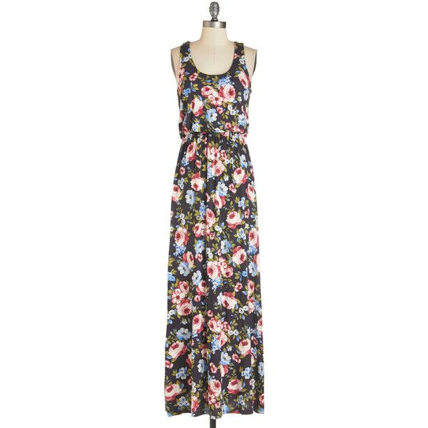 Long Tank top (2 thick straps) Maxi Breezy Night Stroll Dress ($55) ❤ liked on Polyvore