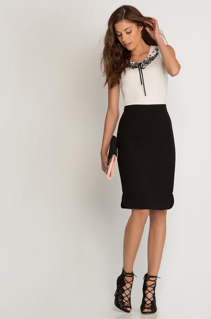 Tričko bez rukávků s elegantním límečkem | ORSAY