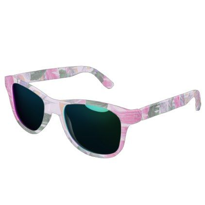 Tropical Plant Pattern Ocean Sunglasses - patterns pattern special unique design gift idea diy