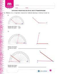 Medir ángulos con el transportador