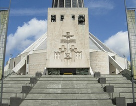 Metropolitan Cathedral, Liverpool. This building really speaks to me. I love the way the heavy doors rumble open, and the whole design is so consistent. There is a real sense of spirituality, peace and enlightenment about the place.