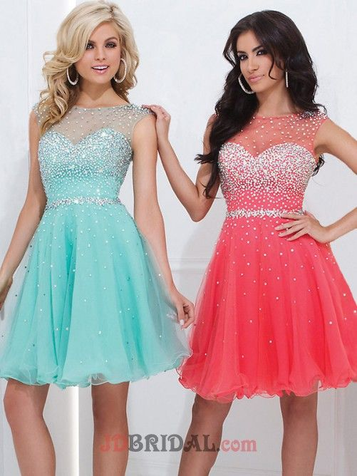 2015 Popular A Line Stunning Sweetheart Ruffles Beaded Short/Mini Homecoming Dress
