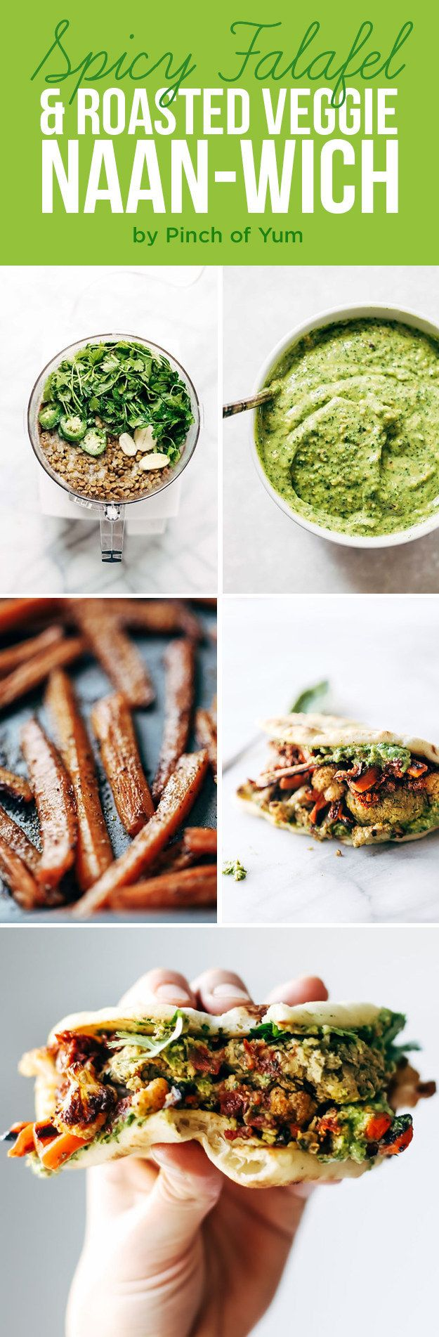 Spicy Falafel and Roasted Veggie Naan-wich | Here's What You Should Eat For Dinner This Week