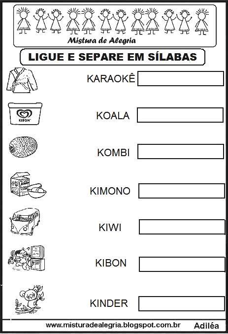 ligar-e-separar-em-silabas-letra-K-alfabetizacao-imprimir-colorir-.JPG (463×678)