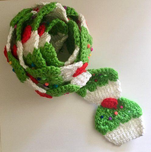 #Lime #Green #Cupcake crochet #scarf with #sprinkles and a #Limegreen #chrsitmas #christmasgifts #cybermonday #smallbizsaturday #smallbizzsaturday #amazonhandmade #handmade #gifts #frosting #food scarf #winterfashion #fallfashion #diy #crochetpattern #crochetpatterns #crochetscarf #greencupcake