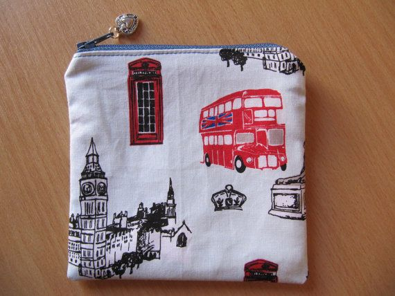 Coin Purse Small Makeup Bag British Invasion Coin by BobbyandMeSew