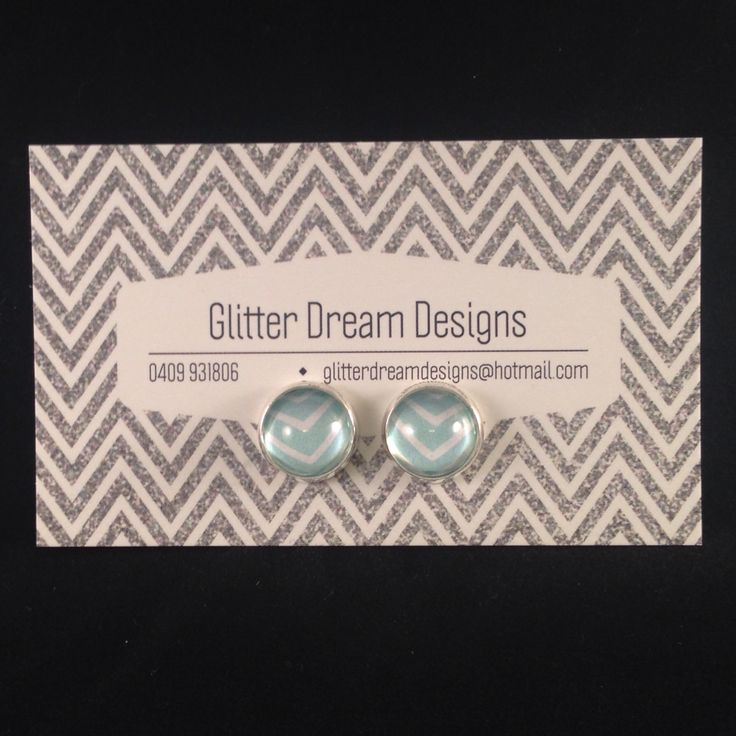 Order Code D15 Green Cabochon Earrings