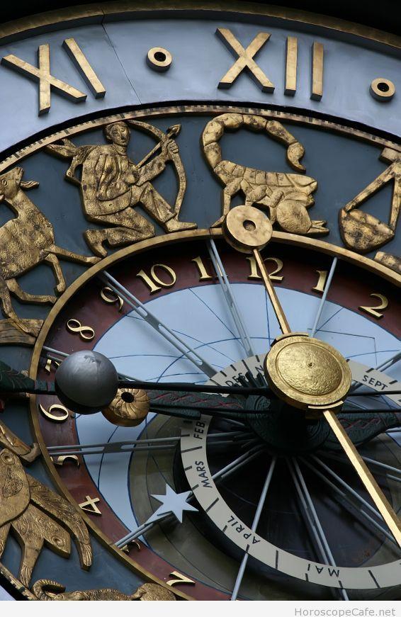 Astronomical Clock Tattoo: Close Up Of Astrological Clock In Prague