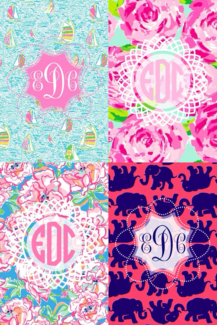 Lilly monogram wallpaper. Made with MonogramApp