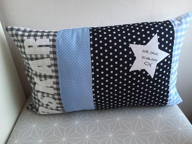 kissen zur taufe polster pillows pinterest pillows. Black Bedroom Furniture Sets. Home Design Ideas