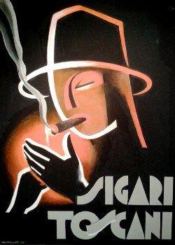 Tuscan cigar - Sigaro Toscano advertising, pubblicità, manifesto