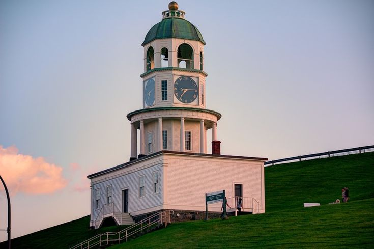 The amazing clock tower at the top of the hill.