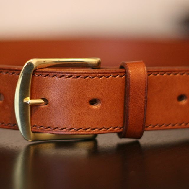 #leatherbelt #leathercraft #solidbrass #handcrafted #vegtanned #tempesti #tempestmaine