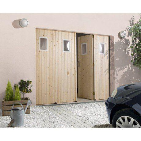 Porte de garage pliante, manuelle PRIMO 200 x 240 cm avec hublot