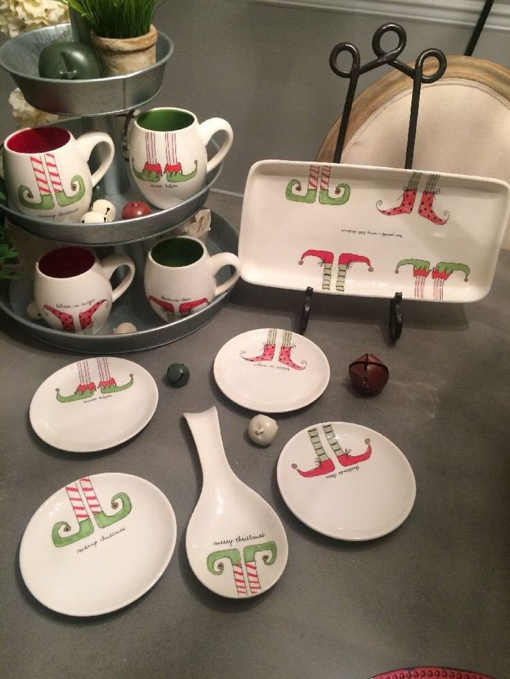 Rae Dunn Artisan Collection By Magenta Large Lot Elves