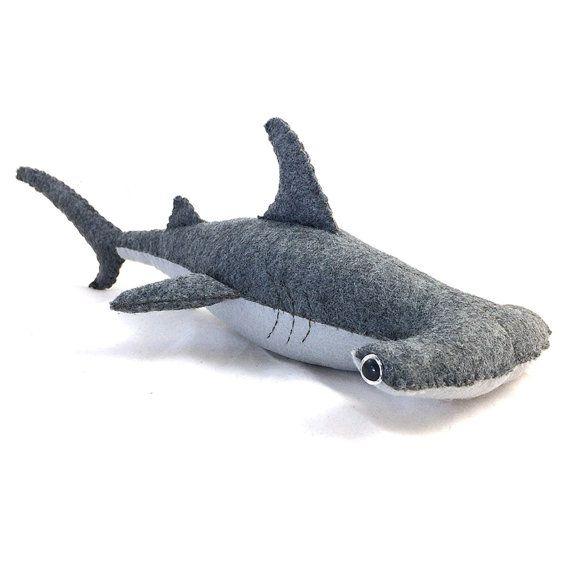 Hammerhead Shark Felt Plush by TreefortFiveShop on Etsy. Love!