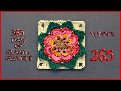 365 Days of Granny Squares Number 265 - YouTube