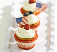 ... Almond Cupcakes with White Chocolate Frosting make a great mid-summer
