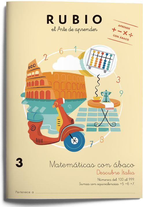 3 Matemáticas con ábaco-Colección de cuadernos para aprender matemáticas con ábaco japonés. Cuadernos Rubio. www.rubio.net