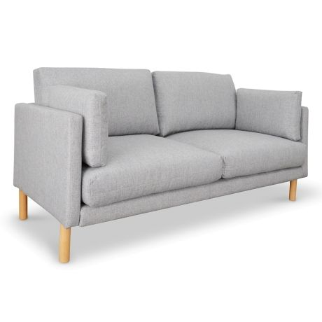 Elegant Austin 2 Seater Sofa Light Grey Modern - Style Of 2 seater sofa Contemporary